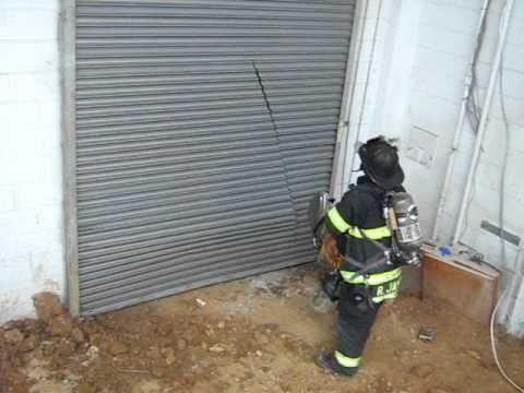 Capitol Fire Training Steel Roll Down Doors.wmv