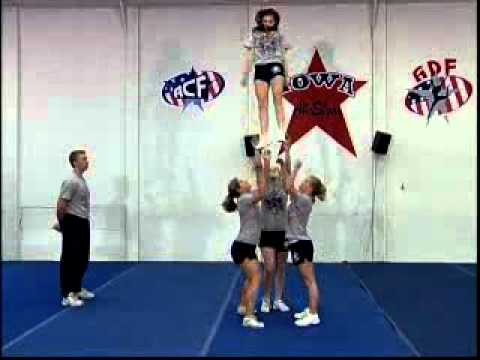 Beginning Cheerleading Stunts - Cheerleading Instruction Video