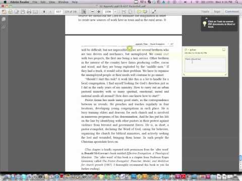 Proof reading a PDF file
