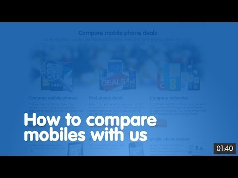 How to compare mobiles with us | broadbandchoices.co.uk