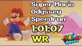 Super Mario Odyssey Any% Speedrun in 1:01:07 (Former World Record - September 26th / 2018)