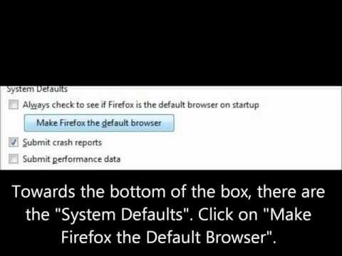 How To Set Firefox as your Default Web Browser
