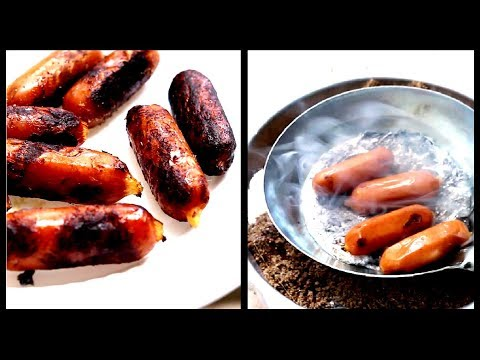 Make Grilled Sausage using Melted Aluminium