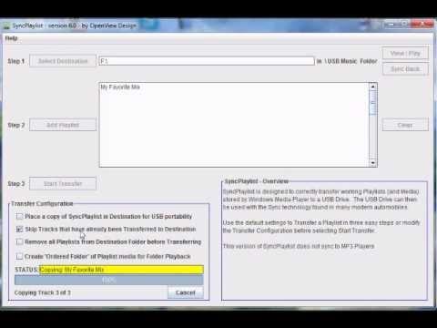 How to copy Windows Media Player Playlist to USB Drive