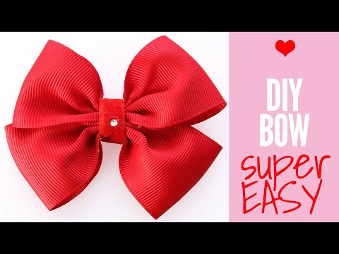 How to Make a Bow out of Ribbon, DIY Hair Bows, Hair Accessories, EASY Bow Tutorial
