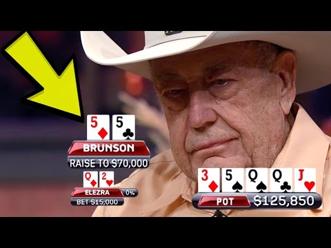 Doyle Brunson TRAPS Elezra With The FULL HOUSE In A Six-Figure Pot