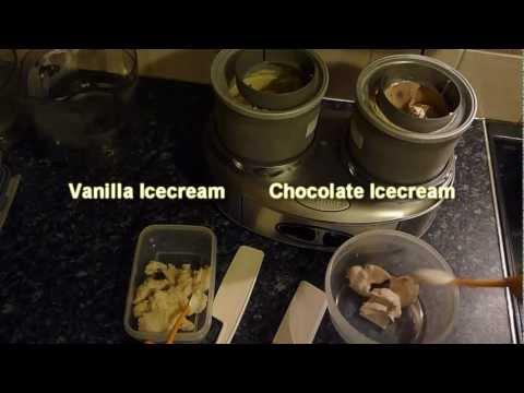 Homemade Alcohol Vanilla Icecream (low fat) and Homemade Alcohol  Chocolate Icecream