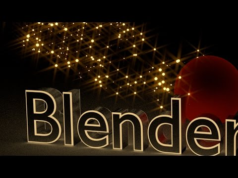 Blender Tutorial: Text with Sparkling Background Animation