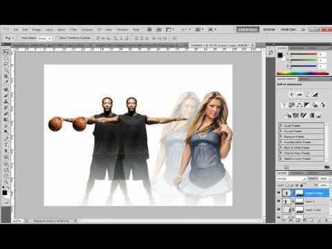 Transparency effect in Photoshop