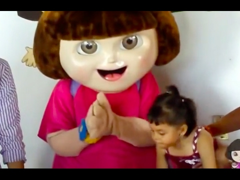Dora the Explorer Celebrates Birthday Girl with Cake and Song