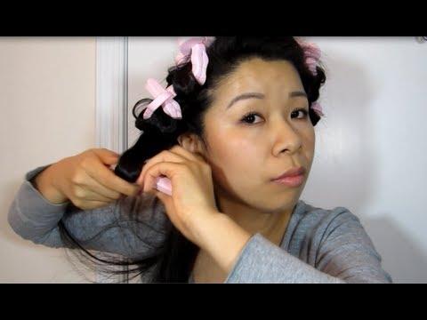 Japanese Sponge Rollers Curls (No Heat)