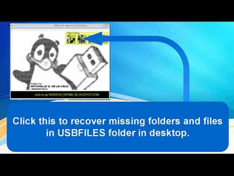 RECOVER MISSING FILES CAUSE BY VIRUS OR MALWARE, FIX AND SOLUTIONS