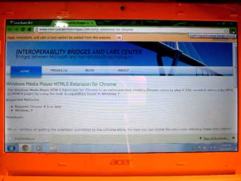 How to add Windows Media Player Extension for Chrome