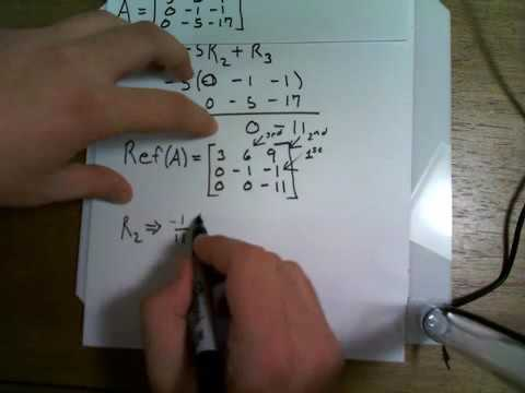 Easiest way to reduce a matrix by hand.