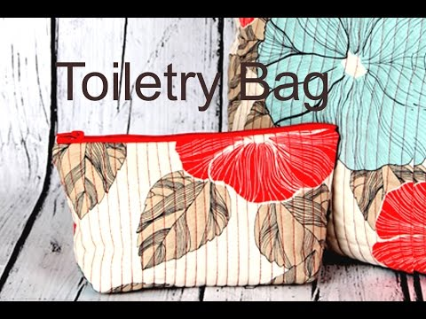 Toiletry Bag - quilted with pockets inside / DIY Bag Vol 17