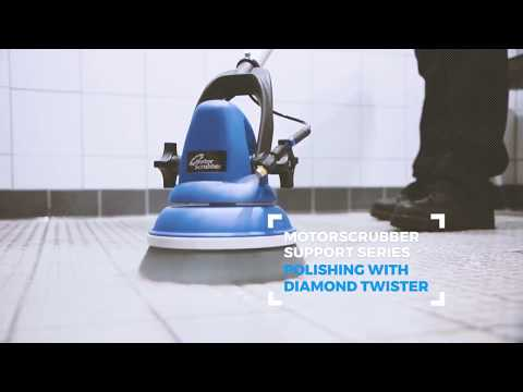 Polishing Marble Floors with Twister Pads & MotorScrubber
