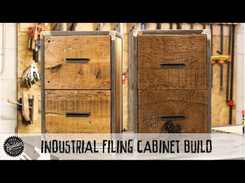 How To Build an Easy Welding & Woodworking Industrial Reclaimed Filing Cabinet