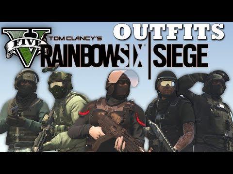 GTA V - Rainbow Six Siege Inspired Outfits! (Blitz, Fuze & More) 5 New Doomsday Heist Custom Oufits!
