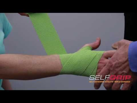 How to tape wrist injuries using SelfGrip® - demonstrated by Dr Overland.