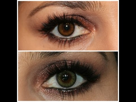 Adore Bi Tone Color Contacts in colors Honey and Yellow Haul & Review in HD
