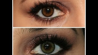 28549cd46e Adore Bi Tone Color Contacts in colors Honey and Yellow Haul & Review in HD