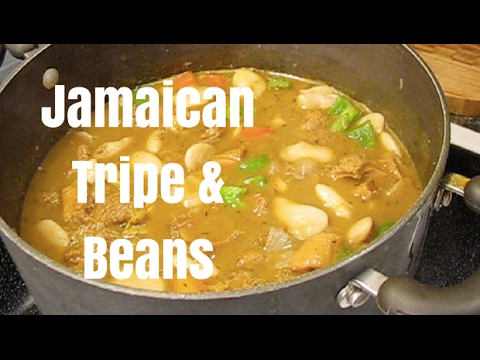 Jamaican Curry Tripe and Beans