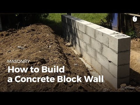How to Build a Concrete Wall | DIY Projects