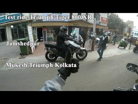 Part - 2 Test ride Triumph Tiger 800 | Jamshedpur | Mukesh Triumph Kolkata