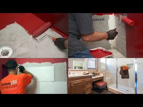 RedGard SpeedCoat Rapid Curing Waterproofing Membrane - For Faster Tiled Shower Installations