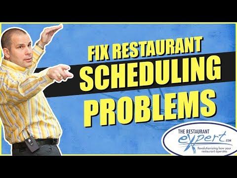 Restaurant Management Tip - How to Fix Your Restaurant Scheduling Problems #restaurantsystems