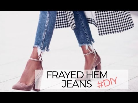 HOW TO: FRAYED DENIM JEANS (DIY)