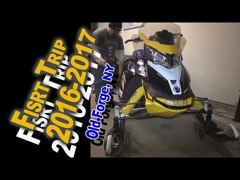 First Ride of the 2016-2017 Snowmobile Season - Old Forge, NY 12-10-16