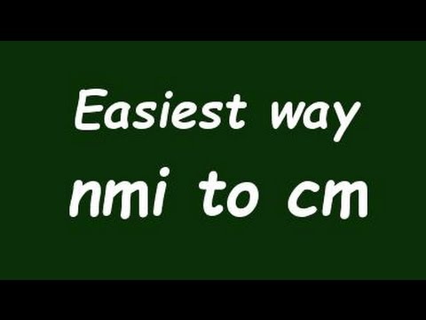 Convert Nautical Mile to Centimeter (nmi to cm) - Formula, Example, Convertion Factor