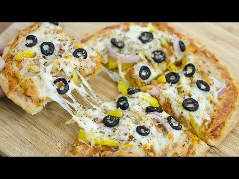 No Yeast, No Oven Pizza Recipe I Easy Without yeast Tawa Vegitable Pizza Recipe