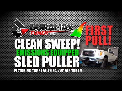 Emissions Equipped Sled Pull Truck - Clean Sweep - First Pull