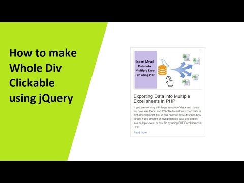 How to make Whole Div Clickable using jQuery