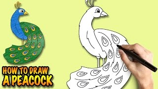 how to draw a peacock easy step by ste 2 years ago