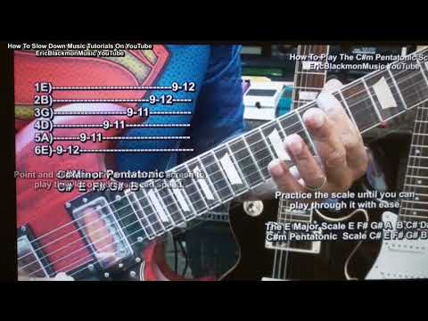 Using The YouTube Gear Setting To Slow Down OR Speed Up Guitar Tutorial Videos