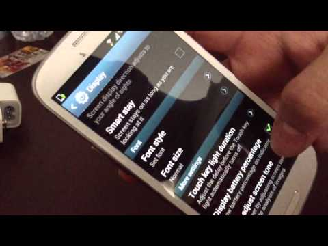 How to turn on battery percentage for Samsung galaxy s3