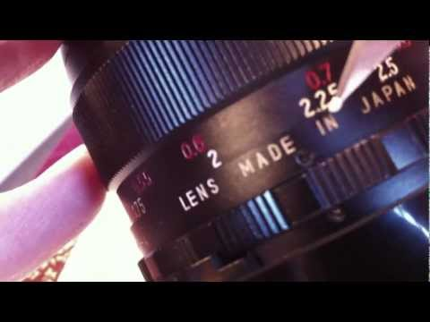 How to: Re-paint vintage lens numbers and letters.