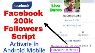 100k facebook followers script activate on mobile 2019