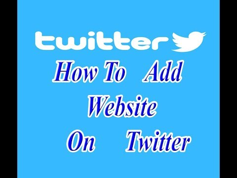 how to add website on twitter