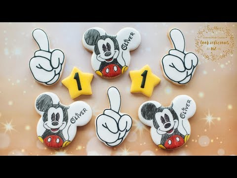 How to make MICKEY MOUSE Cookies using edible pen/markers
