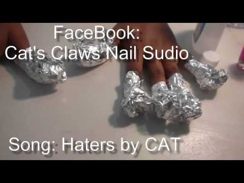 Cat's Claws Nail Studio Tips How to soak off acrylic nails with foil paper