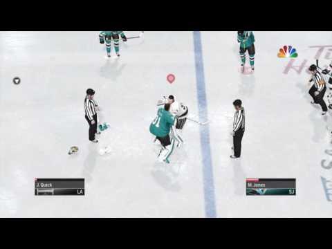 NHL™ 17 goalie fight
