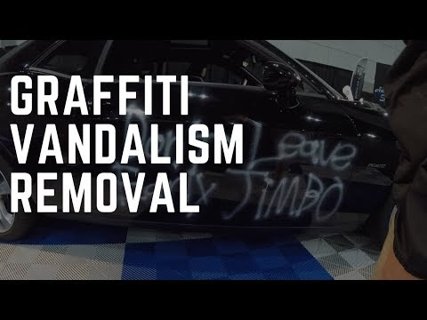 How To Remove Graffiti Vandalism From A Car (fastest way) - Auto Detailing Tips