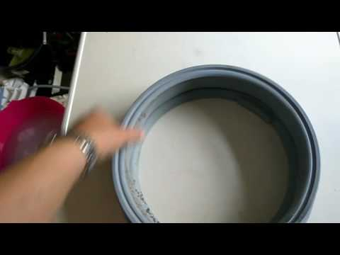 Removing black marks washing machine door seal. Pt1