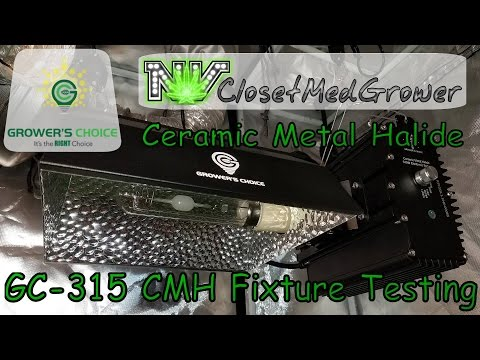 Growers Choice GC-315 Ceramic Metal Halide Fixture Testing