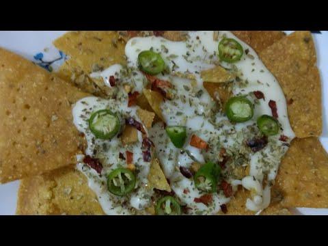 Homemade Nachos Chips with  Cheese Sauce Dip I घर में नाचोस कैसे बनायें I How to Make Nachos At Home