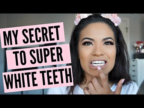 MY SECRET TO SUPER WHITE TEETH! I'M BACK 2018 | BelindasLife